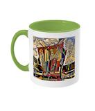 Physics Oxford College Mug with light green handle