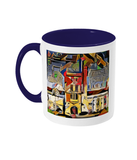 Mansfield college oxford mug blue