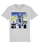 Trinity College Oxford University Mens & Womens Unisex Van-gogh Inspired Student organic cotton grey T-shirt.