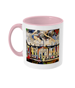 Humanities Oxford College Mug with orange handle
