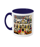 Oriel college Oxford mug blue