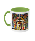Queens college Oxford mug light green