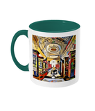 Queens college oxford library mug green