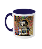 Harris Manchester College Oxford mug blue