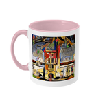 Mansfield college Oxford Mug pink