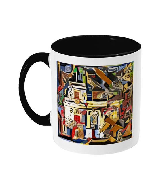 Trinity college oxford tea mug black