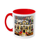 Oriel college Oxford mug red