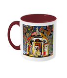 Queens college Oxford mug burgundy