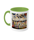Humanities Oxford College Mug with light green handle