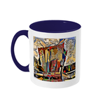 Physics Oxford College Mug with navy blue handle