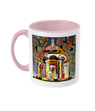 Queens college Oxford mug pink