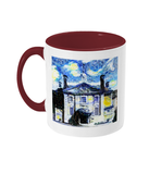 Lady Margaret Hall LMH College Oxford Alumni mug with burgundy  handle
