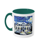 Oriel College Oxford Alumni mug with green handle