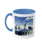 Sheldonian Oxford Alumni Mug with light blue handle