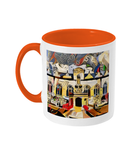 Oriel college Oxford mug orange