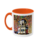 Harris Manchester College Oxford mug orange