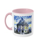 Radcliffe Camera Oxford Alumni Mug with pink handle