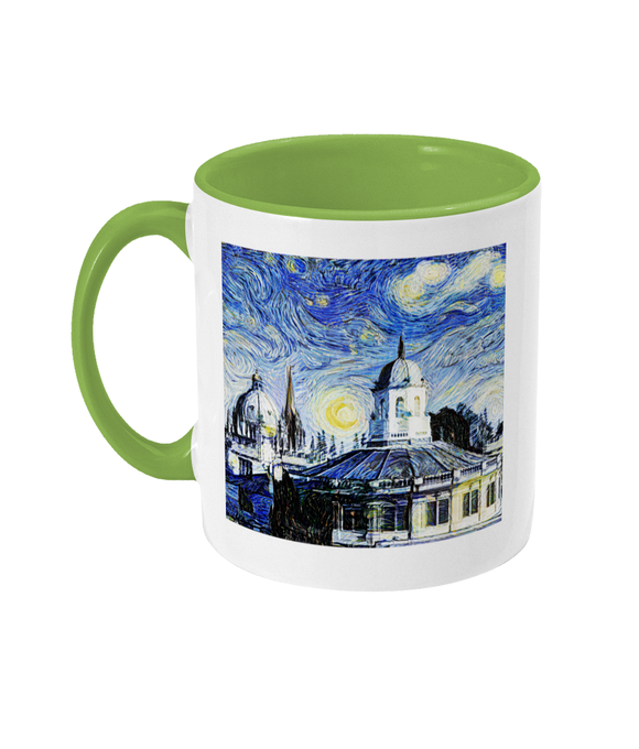 Sheldonian Oxford Alumni Mug with light green handle
