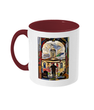 Queens College Oxford Mug with burgundy handle