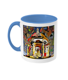 Queens college Oxford mug light blue