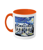 Oriel College Oxford Alumni mug with orange handle