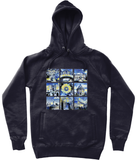 University of Oxford navy organic cotton hoodies with art designs
