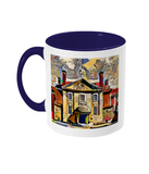Lady Margaret Hall College Oxford Mug blue