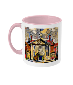 Lady Margaret Hall College Oxford Mug red
