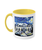 Oriel College Oxford Alumni mug with yellow handle