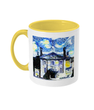 Lady Margaret Hall LMH College Oxford Alumni mug with yellow handle