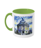 Radcliffe Camera Oxford Alumni Mug with light green handle