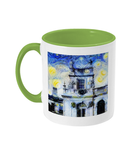 Trinity College Oxford Alumni Mug with light green handle
