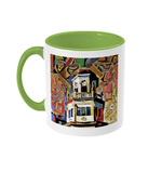 Harris Manchester College Oxford mug light green
