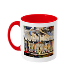 Humanities Oxford College Mug with red handle