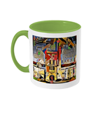 Mansfield college Oxford Mug light green