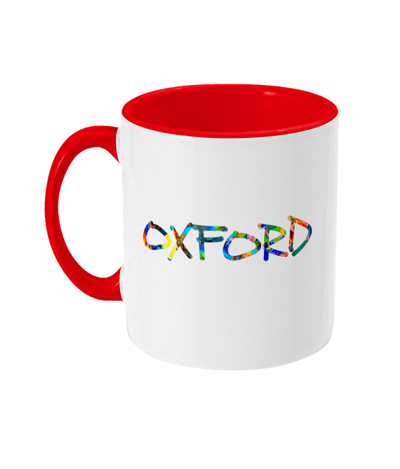 Oxford University Glossy Ceramic red Mug