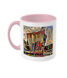 Physics Oxford College Mug with pink handle