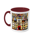 Wadham College Oxford mug burgundy