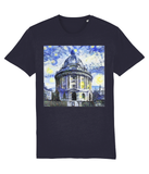 Radcliffe Camera Oxford University unisex navy organic cotton t-shirt with art design