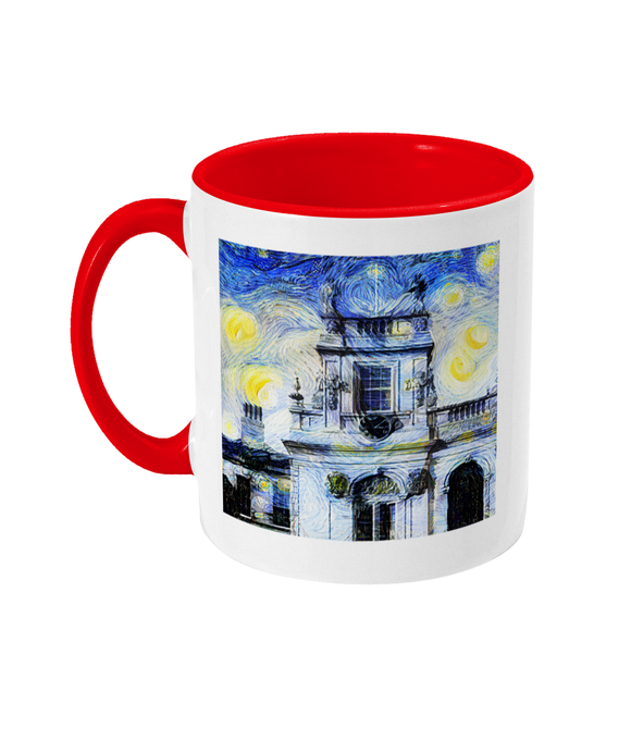 Trinity College Oxford Alumni Mug with red handle