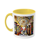 Queens college oxford library mug yellow