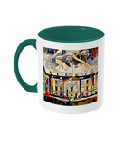 Humanities Oxford College Mug with green handle