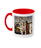 Hertford College Oxford mug with red handle