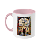 Queens College Oxford Mug with pink handle