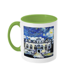 Oriel College Oxford Alumni mug with light green handle