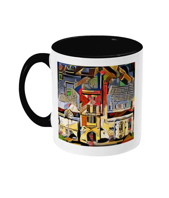 Mansfield college oxford mug black