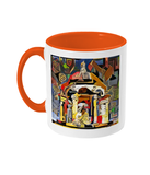 Queens college Oxford mug orange