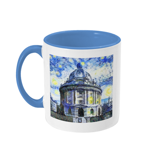Radcliffe Camera Oxford Alumni Mug with light blue handle