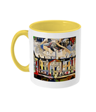Humanities Oxford College Mug with yellow handle