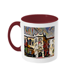 Hertford College Oxford mug with burgundy handle